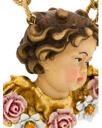 Dolce & Gabbana - Multicolor Cherub Rose Necklace - Lyst