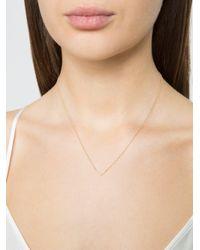 EF Collection - Metallic Mini Diamond Chevron Necklace - Lyst