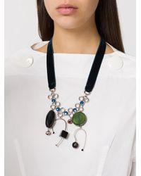 Marni - Blue Mutli Pendant Necklace - Lyst