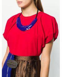 Marni - Purple Oversized Enamel Pendant Necklace - Lyst
