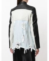 Alexander Wang - Blue Denim And Moto Hybrid Jacket - Lyst