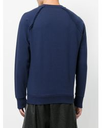DIESEL - Blue Classic Knitted Sweater for Men - Lyst