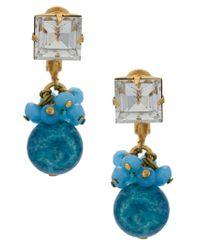 Serpui - Metallic Embellished Earrings - Lyst