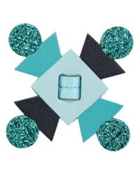Anya Hindmarch - Blue Flower Bag Charm - Lyst