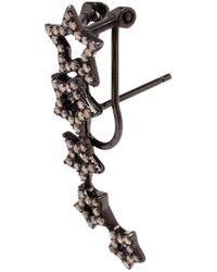 Rosa De La Cruz - Black Diamond Star Earrings - Lyst