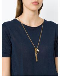 Camila Klein - Metallic Tassel Pendant Long Necklace - Lyst