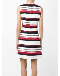 Dolce & Gabbana - Blue Striped Brocade Dress - Lyst