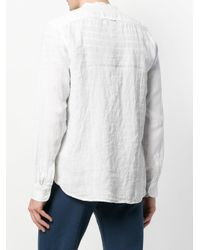 Woolrich - White Loose Fit Collarless Shirt for Men - Lyst