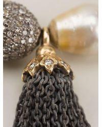 Loree Rodkin - Metallic Pearl Tassel Bracelet - Lyst