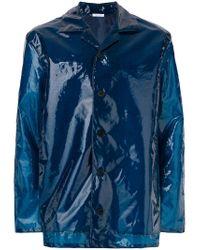 Jil Sander - Blue Straight-fit Button Up Coat for Men - Lyst