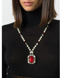 Max Mara - White Lavagna Bead Necklace - Lyst