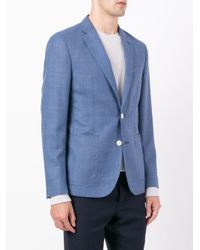 Hardy Amies - Blue Blazer In Tessuto A Trama for Men - Lyst