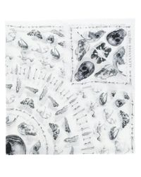 Alexander McQueen | White Skull Print Scarf for Men | Lyst