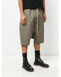 Rick Owens - Green Drop-crotch Shorts for Men - Lyst