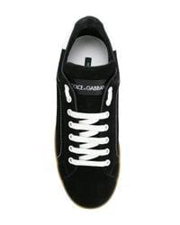 Dolce & Gabbana - Black Portofino Sneakers for Men - Lyst