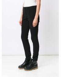 Alexander Wang - Black Seam Detailed Skinny Trousers - Lyst