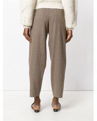 Dusan - Brown Tapered Trousers - Lyst