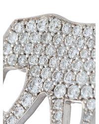 Marc Alary - Metallic 'elephant' Diamond Charm Pendant - Lyst