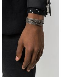 Saint Laurent - Metallic Marrakech Cuff Bracelet for Men - Lyst