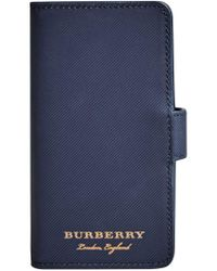 Burberry - Blue Logo Iphone 7 Case - Lyst