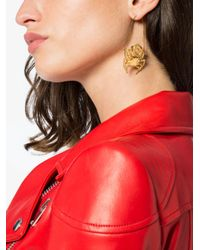 Givenchy - Metallic Gold Tone Crab Earrings - Lyst