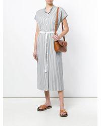 Joseph - Green Striped Shirt Dress - Lyst