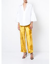 TOME - Yellow Cropped Trousers - Lyst