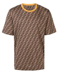Fendi - Multicolor T-Shirt mit FF-Logo for Men - Lyst