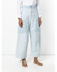 Chloé - Blue Wide Leg Pocket Trousers - Lyst
