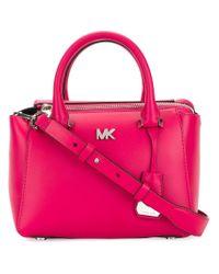 MICHAEL Michael Kors - Pink Nolita Mini Satchel - Lyst
