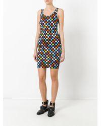 Givenchy - Blue Polka Dot Printed Dress - Lyst