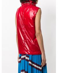 CALVIN KLEIN 205W39NYC - Red Drawstring Pullover - Lyst