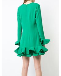 Nha Khanh - Green Ruffled Hem Dress - Lyst