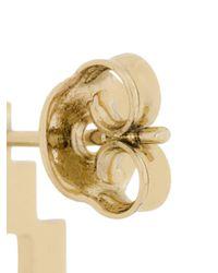 Marcelo Burlon - Metallic Cross Logo Earrings - Lyst