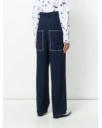 Ports 1961 - Blue Straight Leg Trousers - Lyst