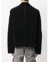 Rick Owens Drkshdw - Black Zipped Short Jacket for Men - Lyst