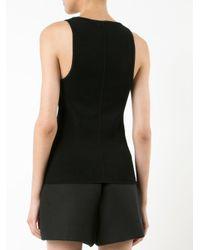 Khaite - Black Ribbed Vest Top - Lyst