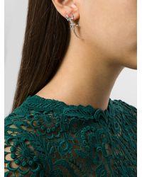Wouters & Hendrix | Metallic Lizard & Baguette Diamond Earrings | Lyst