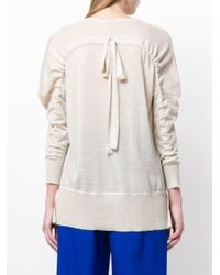 Agnona Multicolor Cashmere V-neck Top