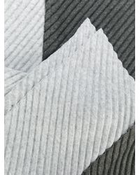 Homme Plissé Issey Miyake Gray Two Tone Scarf for men