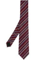 Cerruti 1881 - Red Striped Tie for Men - Lyst