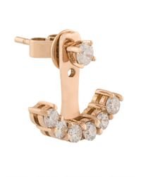Anita Ko - Metallic Diamond Lobe Earring - Lyst