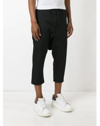Rick Owens Drkshdw - Black Drop Crotch Pants for Men - Lyst