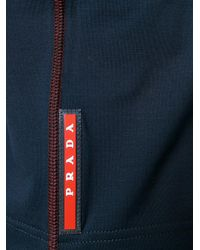 Prada - Blue Stretch Crewneck T-shirt for Men - Lyst