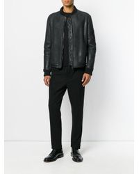 Salvatore Santoro - Black Bomber Jacket for Men - Lyst