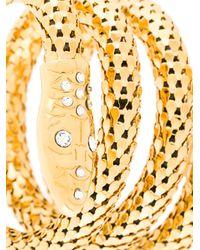 Giuseppe Zanotti - Metallic Serpent Wrap Bracelet Gold - Lyst