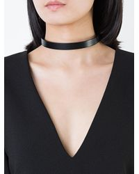 Clane - Black Skinny Choker Necklace - Lyst