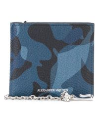 Alexander McQueen - Blue Camouflage Billfold Wallet for Men - Lyst