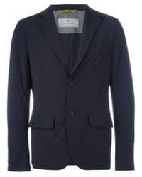 Canali - Blue Waterproof Blazer for Men - Lyst
