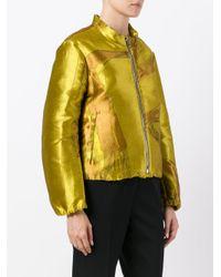 Dorothee Schumacher - Yellow Zipped Jacket - Lyst